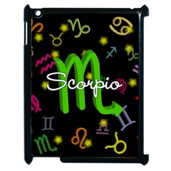 Scorpio Floating Zodiac Name Apple iPad 2 Case (Black) by theimagezone