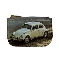 Classic Beetle Car Parked On Street Mini Coin Purses