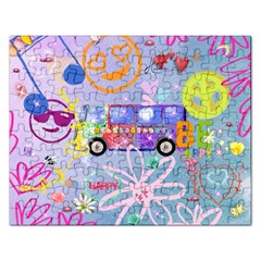 Summer Of Love   The 60s Rectangular Jigsaw Puzzl by MoreColorsinLife