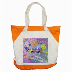 Summer Of Love   The 60s Accent Tote Bag  by MoreColorsinLife