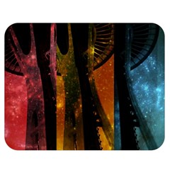 Colorful Space Needle Double Sided Flano Blanket (medium)  by stineshop