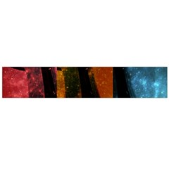 Colorful Space Needle Flano Scarf (large)  by stineshop