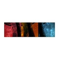 Colorful Space Needle Satin Scarf (oblong) by stineshop