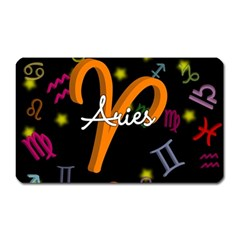 Aries Floating Zodiac Sign Magnet (Rectangular) by theimagezone