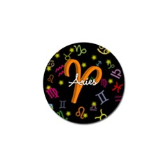 Aries Floating Zodiac Sign Golf Ball Marker (4 Pack) by theimagezone