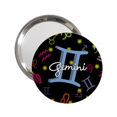 Gemini Floating Zodiac Sign 2 25  Handbag Mirrors by theimagezone