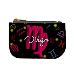 Virgo Floating Zodiac Sign Mini Coin Purses by theimagezone
