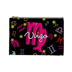 Virgo Floating Zodiac Sign Cosmetic Bag (large)  by theimagezone