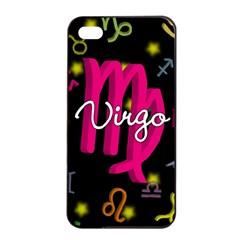 Virgo Floating Zodiac Sign Apple iPhone 4/4s Seamless Case (Black)