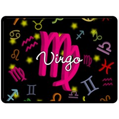 Virgo Floating Zodiac Sign Double Sided Fleece Blanket (large)  by theimagezone