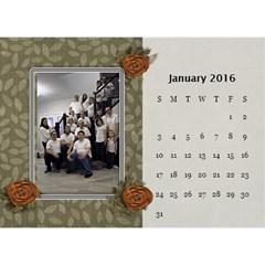 2016 Calendar By Mike Anderson   Desktop Calendar 8 5  X 6    T10dnocgiqkb   Www Artscow Com Jan 2016