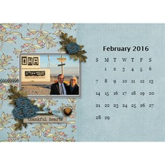 2016 Calendar By Mike Anderson   Desktop Calendar 8 5  X 6    T10dnocgiqkb   Www Artscow Com Feb 2016