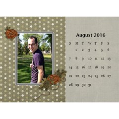 2016 Calendar By Mike Anderson   Desktop Calendar 8 5  X 6    T10dnocgiqkb   Www Artscow Com Aug 2016