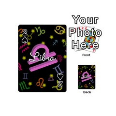 Libra Floating Zodiac Name Playing Cards 54 (mini)