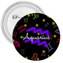 Aquarius Floating Zodiac Name 3  Buttons by theimagezone
