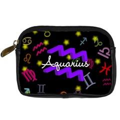 Aquarius Floating Zodiac Name Digital Camera Cases by theimagezone