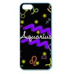 Aquarius Floating Zodiac Name Apple Seamless Iphone 5 Case (color) by theimagezone