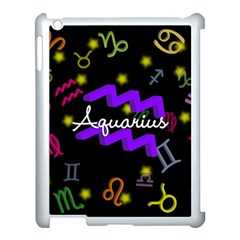 Aquarius Floating Zodiac Name Apple Ipad 3/4 Case (white) by theimagezone