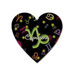 Capricorn Floating Zodiac Name Heart Magnet by theimagezone