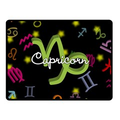 Capricorn Floating Zodiac Name Fleece Blanket (small) by theimagezone