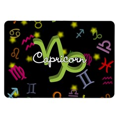 Capricorn Floating Zodiac Name Samsung Galaxy Tab 8 9  P7300 Flip Case by theimagezone