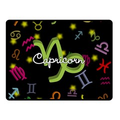 Capricorn Floating Zodiac Name Double Sided Fleece Blanket (small)  by theimagezone