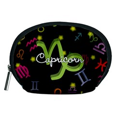 Capricorn Floating Zodiac Name Accessory Pouches (medium)  by theimagezone