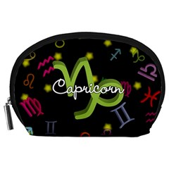 Capricorn Floating Zodiac Name Accessory Pouches (large)  by theimagezone