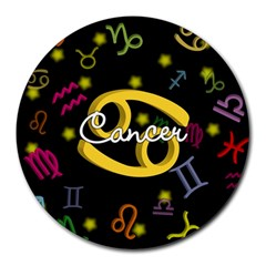 Cancer Floating Zodiac Name Round Mousepads by theimagezone