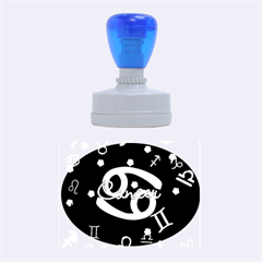 Cancer Floating Zodiac Name Rubber Oval Stamps by theimagezone