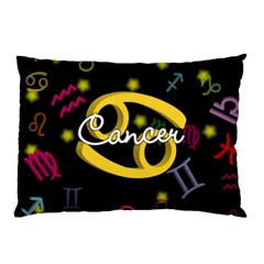 Cancer Floating Zodiac Name Pillow Cases (two Sides) by theimagezone
