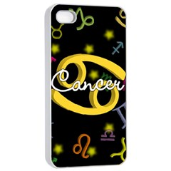 Cancer Floating Zodiac Name Apple Iphone 4/4s Seamless Case (white) by theimagezone