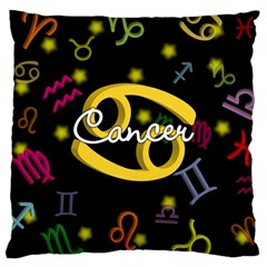 Cancer Floating Zodiac Name Large Cushion Cases (two Sides)  by theimagezone