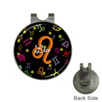 Leo Floating Zodiac Name Hat Clips with Golf Markers