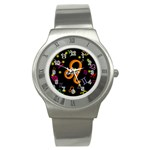 Leo Floating Zodiac Name Stainless Steel Watches