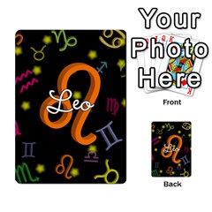 Leo Floating Zodiac Name Multi Purpose Cards (rectangle)
