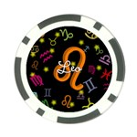 Leo Floating Zodiac Name Poker Chip Card Guards (10 pack)