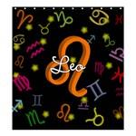 Leo Floating Zodiac Name Shower Curtain 66  x 72  (Large)