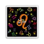 Leo Floating Zodiac Name Memory Card Reader (Square)