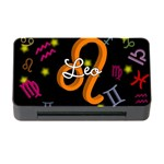 Leo Floating Zodiac Name Memory Card Reader with CF