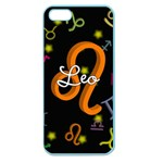 Leo Floating Zodiac Name Apple Seamless iPhone 5 Case (Color)