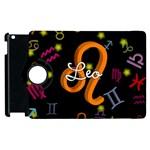 Leo Floating Zodiac Name Apple iPad 3/4 Flip 360 Case
