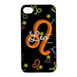 Leo Floating Zodiac Name Apple iPhone 4/4S Hardshell Case with Stand