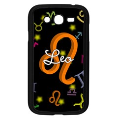 Leo Floating Zodiac Name Samsung Galaxy Grand Duos I9082 Case (black) by theimagezone