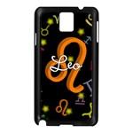Leo Floating Zodiac Name Samsung Galaxy Note 3 N9005 Case (Black)