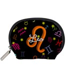 Leo Floating Zodiac Name Accessory Pouches (Small)