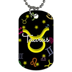 Taurus Floating Zodiac Name Dog Tag (two Sides) by theimagezone