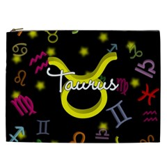 Taurus Floating Zodiac Name Cosmetic Bag (xxl)  by theimagezone