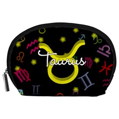 Taurus Floating Zodiac Name Accessory Pouches (large)  by theimagezone