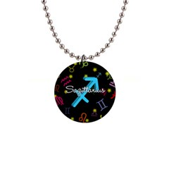 Sagittarius Floating Zodiac Name Button Necklaces by theimagezone